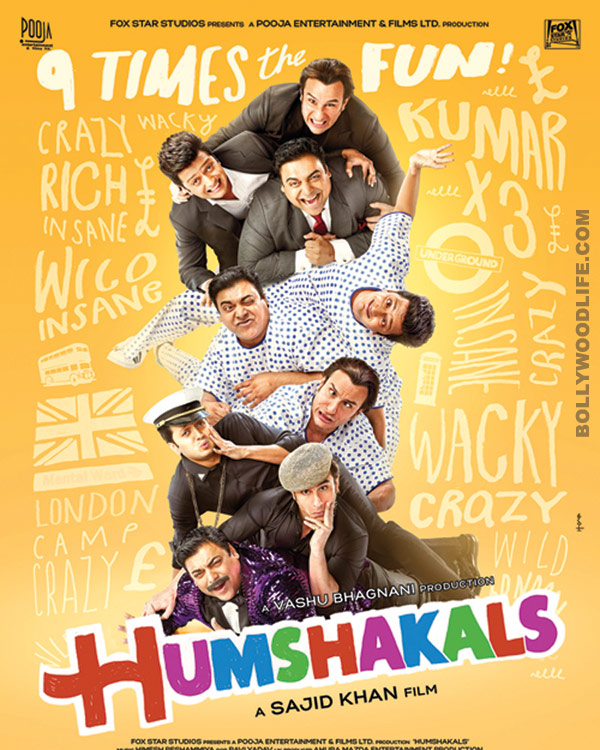 Saif Ali Khan, Ram Kapoor and Riteish Deshmukh create a commotion - view Humshakals posters!