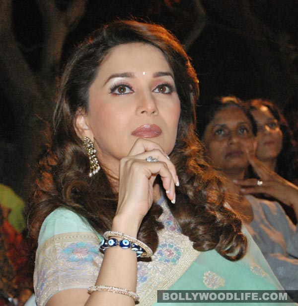 Why was Madhuri Dixit-Nene asked to leave the VIP lounge at Bhopal airport?