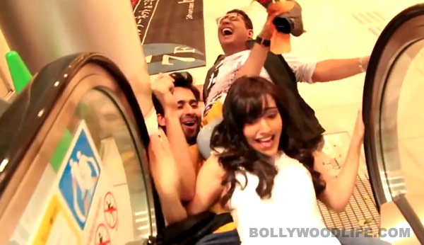 Youngistaan song Tanki making: Watch Jackky Bhagnani saving Neha Sharma from a robot in this mad party song!
