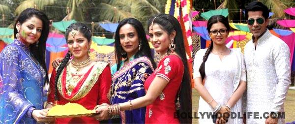 Drashti Dhami, Gunjan Uttreja, Suchitra Pillai enjoy at Colors TV's Holi celebration