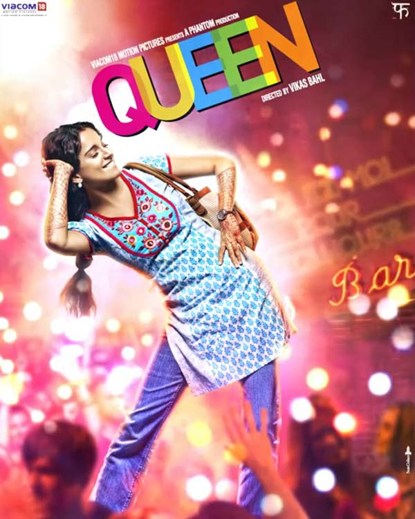 Queen motion poster: Kangana Ranaut is lively and colourful!
