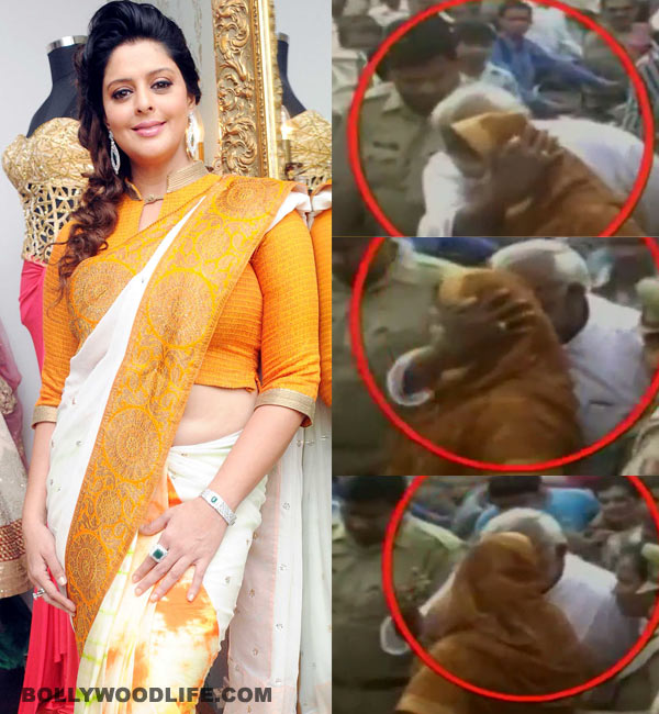 Nagma molested and forcefully kissed by Congress MLA Gaj Raj Sharma in Meerut rally - watch video!