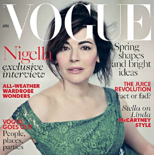 What is Nigella Lawsen doing on the cover of British Vogue?