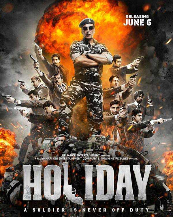 Holiday new poster: Does Akshay Kumar remind you of a comic book cover?