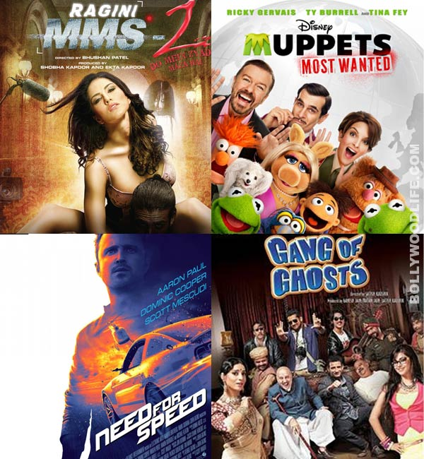 Filmi Friday: Ragini MMS 2, Muppets Most Wanted and Need for Speed in the theatres!