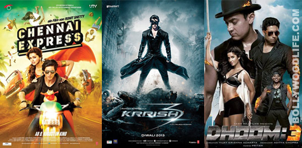 Chennai Express, Krrish 3 and Dhoom:3 - the game changers of entertaiment industry in 2013