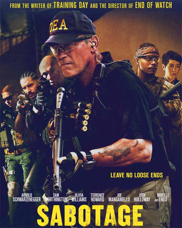 Sabotage movie review: Arnold Schwarzenegger, Sam Worthington and Terrence Howard form an unimaginative whodunit!