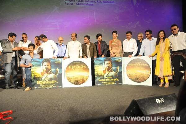 Shahrukh Khan, Deepika Padukone, AR Rahman at Rajinikanth's Kochadaiiyaan music launch - View pics!