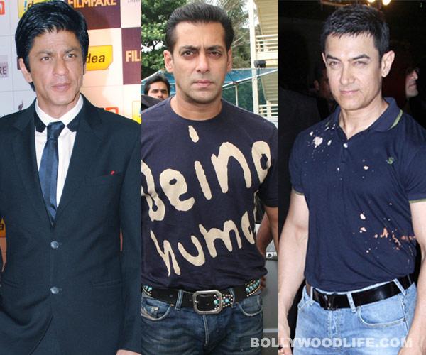 What did Salman Khan, Shahrukh Khan and Aamir Khan say in their first tweet?