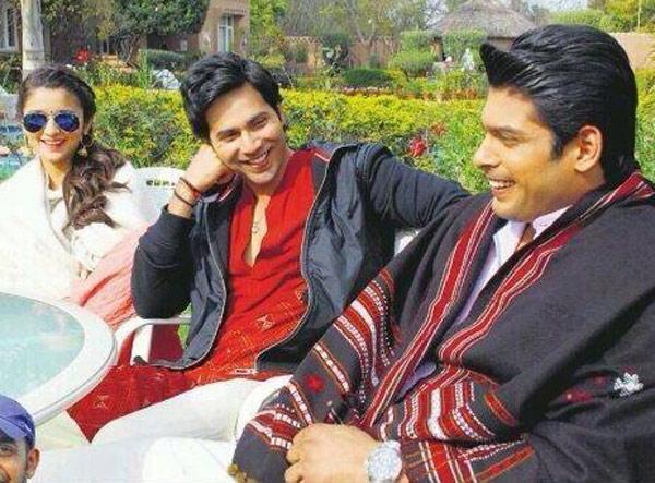 Siddharth Shukla bonds with Alia Bhatt and Varun Dhawan on the sets of Humpty Sharma Ki Dulhaniya!