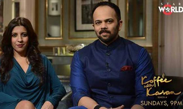 Koffee with Karan 4: Find out the real reason why Zoya Akhtar and Rohit Shetty went on Karan Johar's show