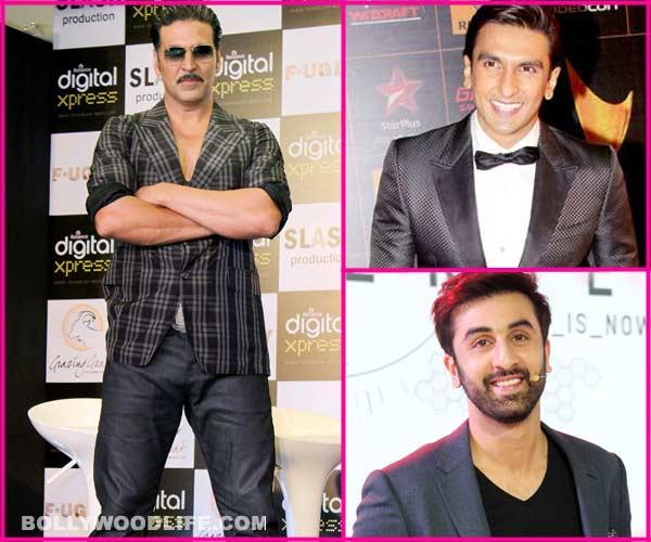What is Akshay Kumar's opinion about Ranbir Kapoor and Ranveer Singh?