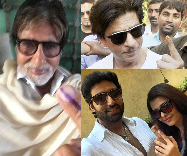 Shahrukh Khan, Amitabh Bachchan and Aishwarya Rai Bachchan cast their vote – View pics!