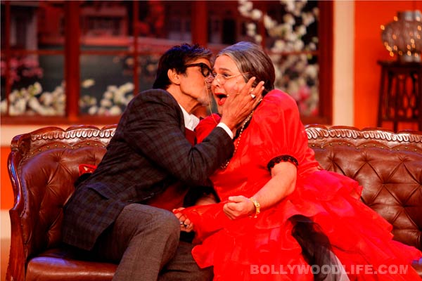 Comedy Nights with Kapil: Amitabh Bachchan doles a shagun ki pappi to Kapil Sharma's onscreen Dadi!