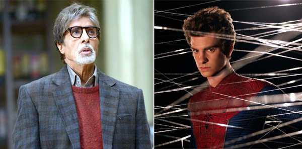 Amitabh Bachchan, the friendly ghost from Bhoothnath Returns comes together with Andrew Garfield, the Amazing Spider Man!