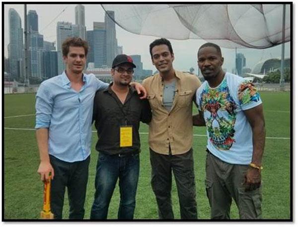 What happened when Samir Kocchar met Andrew Garfield? - View pics!