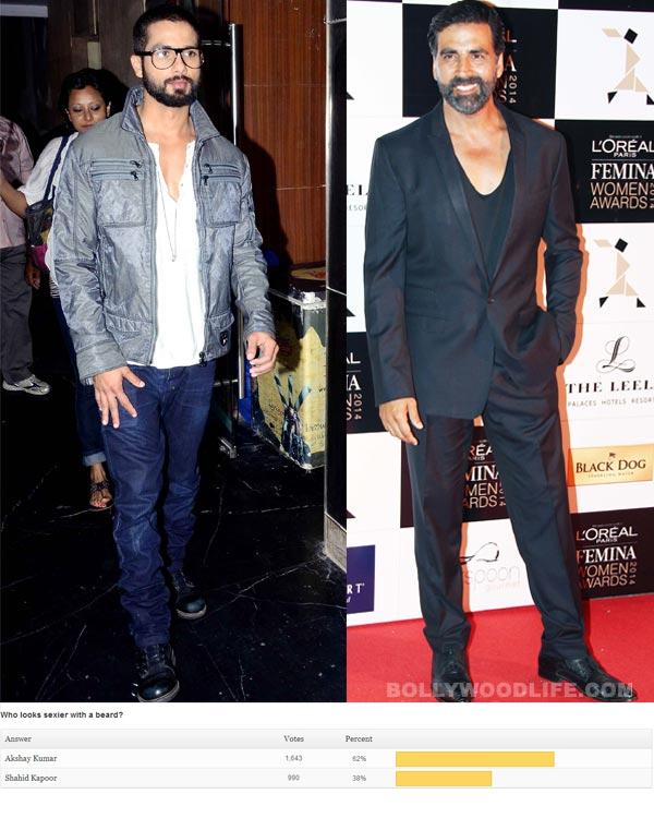 Akshay Kumar sexier than Shahid Kapoor with beard, say fans!