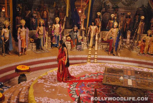 Pooja Sharma aka Draupadi makes Duryodhan cry