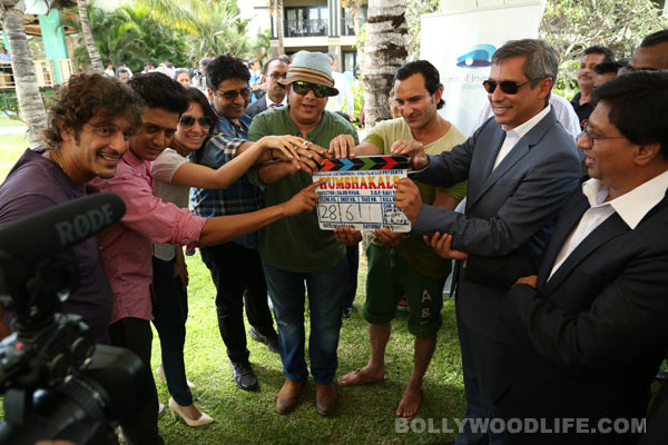 Who visited Saif Ali Khan on the sets of Humshakals in Mauritius?
