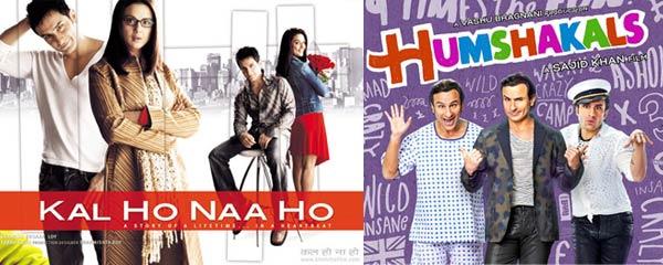 What similarity does Saif Ali Khan's Humshakals have with Kal Ho Naa Ho?