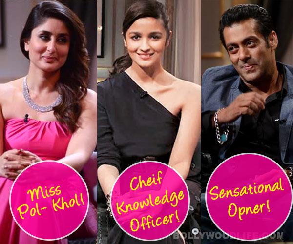 Koffee with Karan 4 awards: What do Salman Khan, Alia Bhatt and Kareena Kapoor deserve to win?