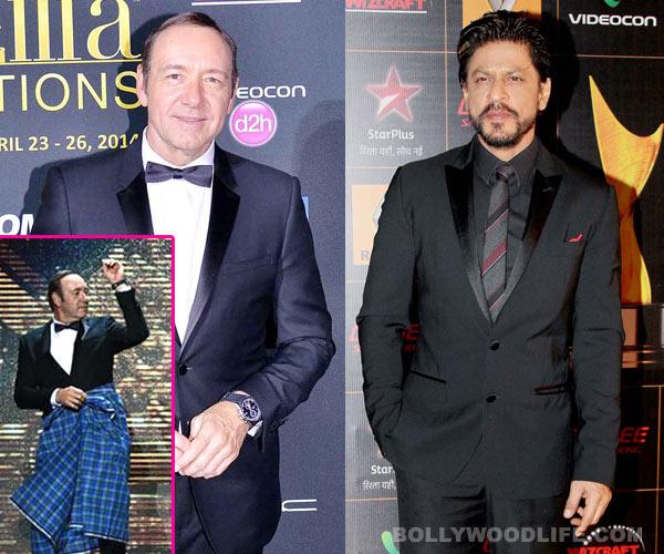 Kevin Spacey ensures Deepika Padukone's hero Shahrukh Khan wasn't missed at IIFA 2014!