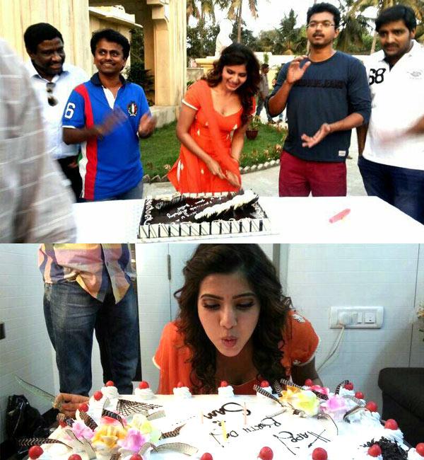 Who did Samantha Prabhu celebrate her birthday with?