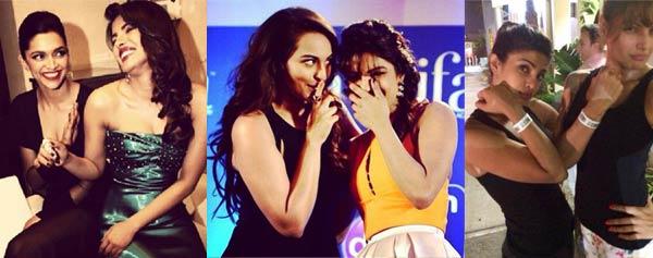 Priyanka Chopra, Deepika Padukone, Bipasha Basu have a blast at IIFA 2014