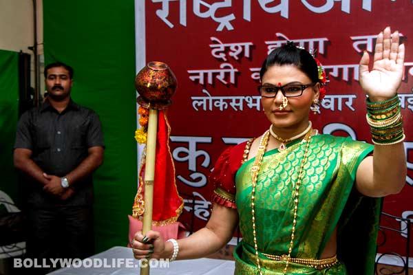 Have you seen Rakhi Sawant's Gudi Padwa gimmick?