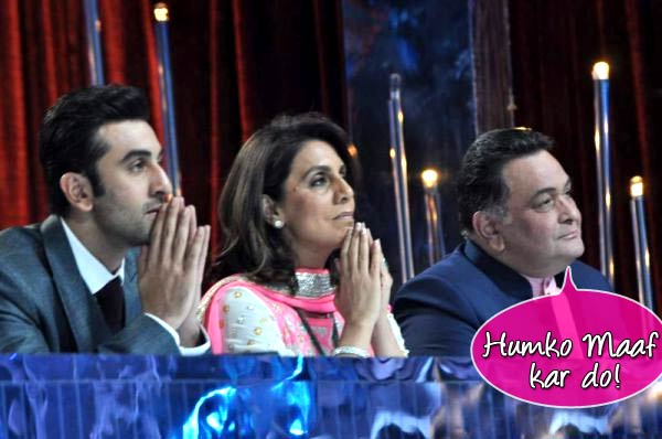 Why is Rishi Kapoor apologising for Ranbir Kapoor and Neetu Kapoor?