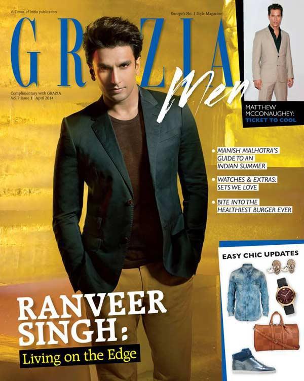 Clean shaven Ranveer Singh looks cool as a coverboy!