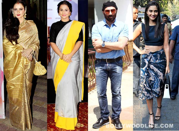 Rekha, Vidya Balan, Sunny Deol and Sonam Kapoor among the early voters from Bollywood!