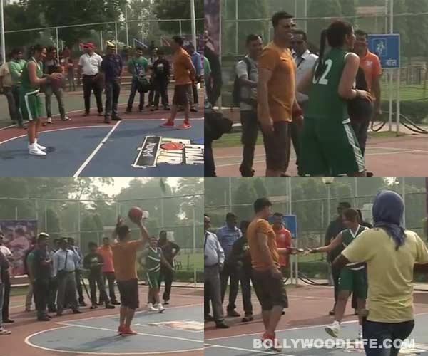 Sonakshi Sinha beats Akshay Kumar in basketball – Watch video!