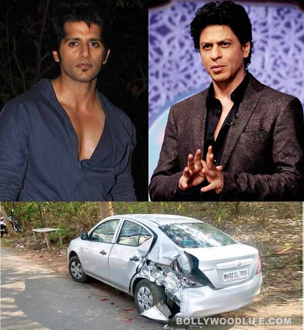 Qubool Hai actor Karanvir Bohra's car rammed by Shahrukh Khan's vanity van!