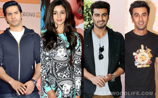 Varun Dhawan celebrates 27th birthday with Ranbir Kapoor and Alia Bhatt!