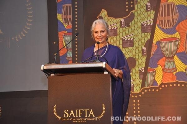 Waheeda Rehman: I want to say bye to films