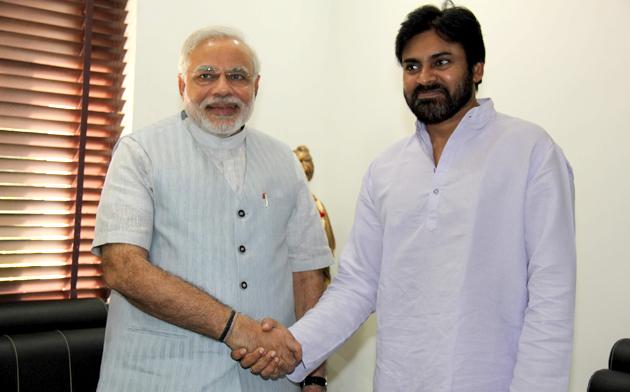 Narendra Modi pays his gratitude to Pawan Kalyan