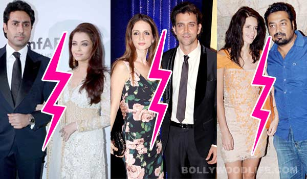 Abhishek Bachchan-Aishwarya Rai Bachchan, Hrithik Roshan-Sussanne Khan, Kalki Koechlin-Anurag Kashyap - troubled Bollywood marriages