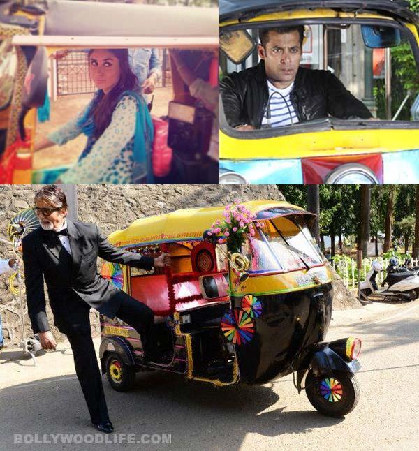 Kareena Kapoor, Salman Khan, Amitabh Bachchan enjoy a fun rickshaw ride - View pics!