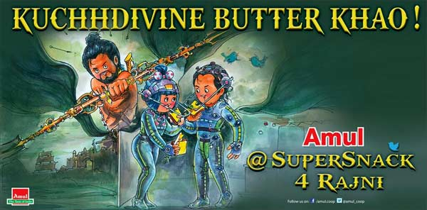 Kochadaiiyaan Amul poster: Rajinikanth and Deepika Padukone's utterly butterly delicious love!