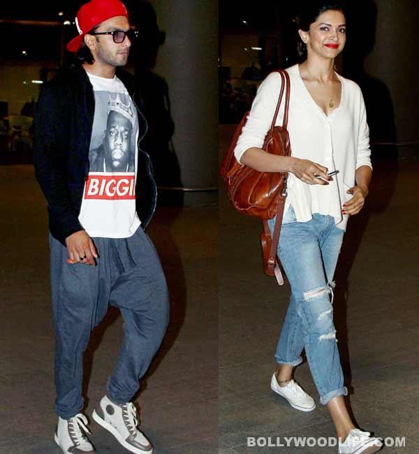 Deepika Padukone wears Ranveer Singh's love on her neck!