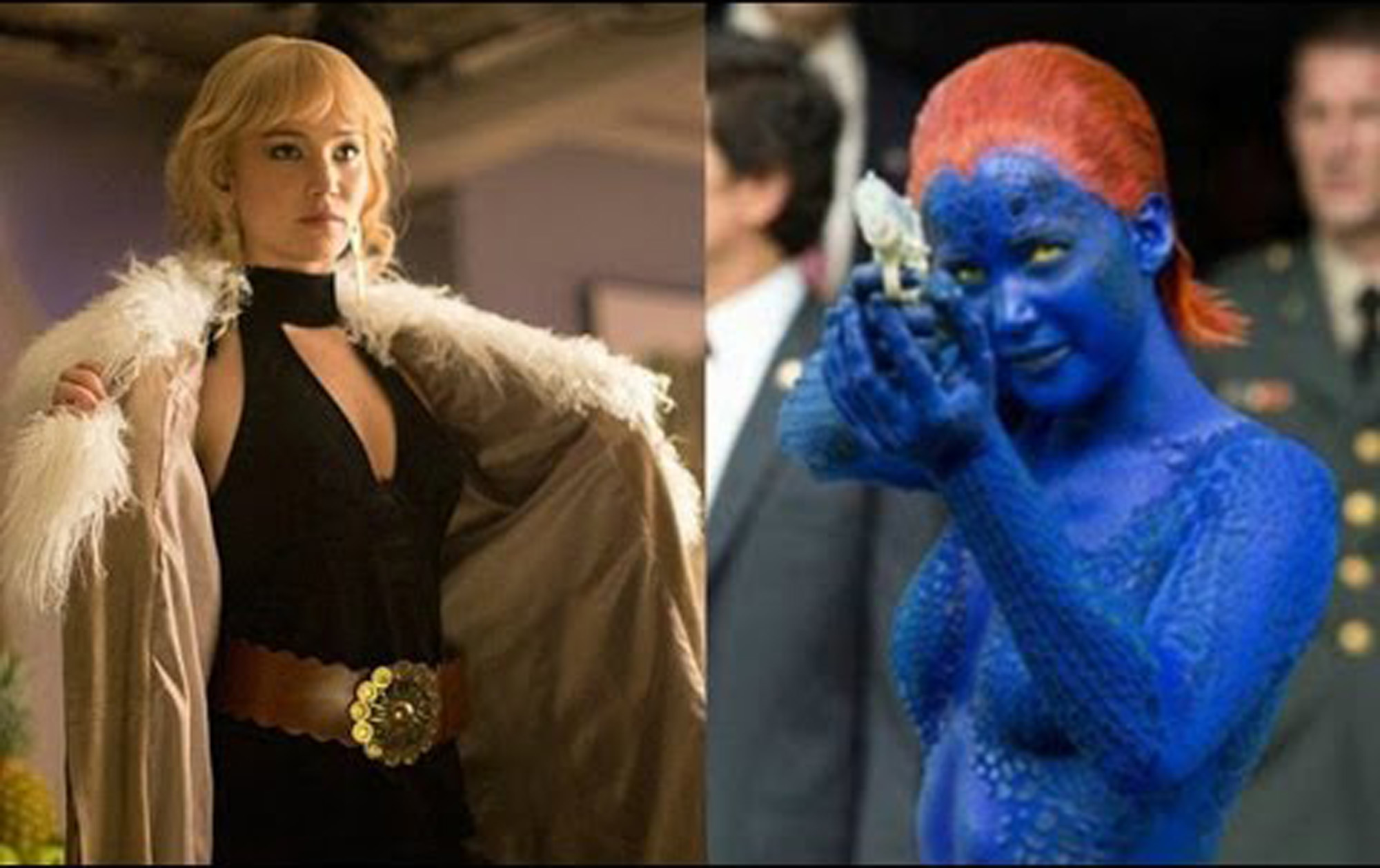 Jennifer Lawrence does Yoga to play Mystique in the forthcoming X men movie-DOFP!