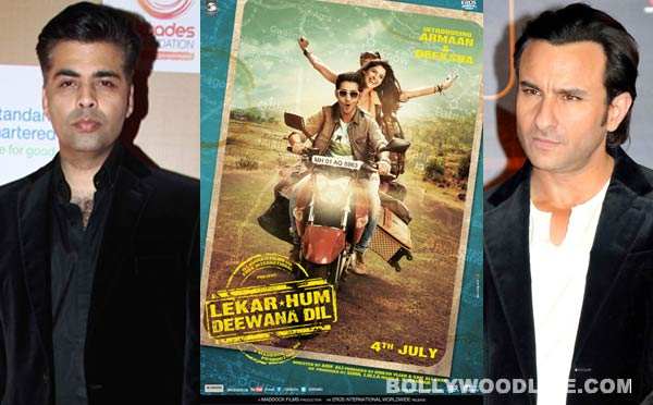 Did Karan Johar suggest Saif Ali Khan the title of Armaan Jain's debut film Lekar Hum Deewana Dil?