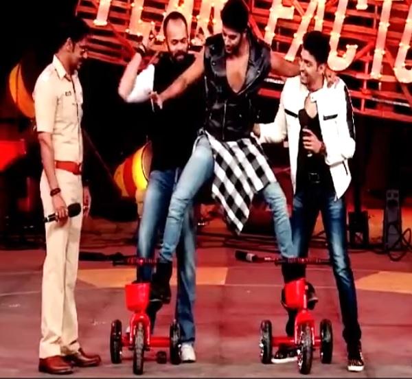 Khatron Ke Khiladi 5 finale: Karanvir Bohra apes Ajay Devgn's bike stunt on stage - watch video!