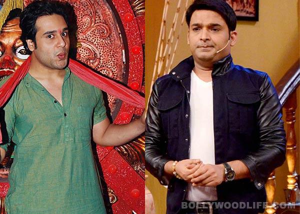 Kapil Sharma meets Krushna Abhishek on 'Entertainment Ke Liye..' set