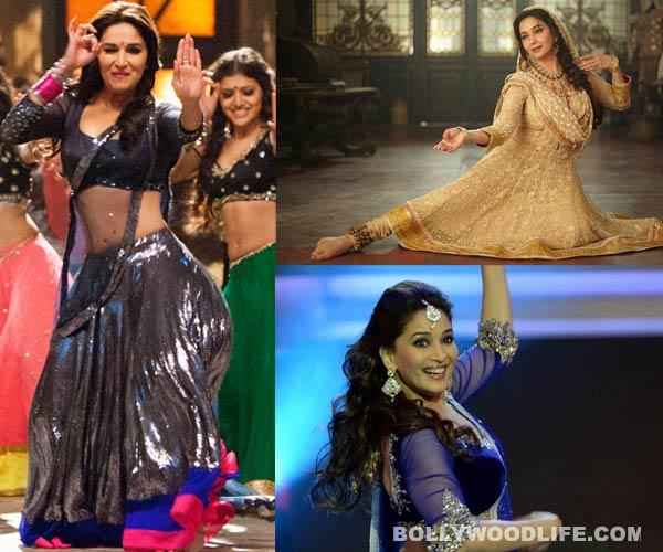 Madhuri Dixit-Nene's sexy dance moves in Choli ke peeche, Dhak dhak karne laga and Ghagra - watch videos!