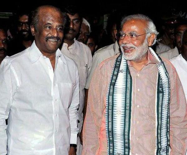 Narendra Modi learns the tricks of trade from Rajinikanth!