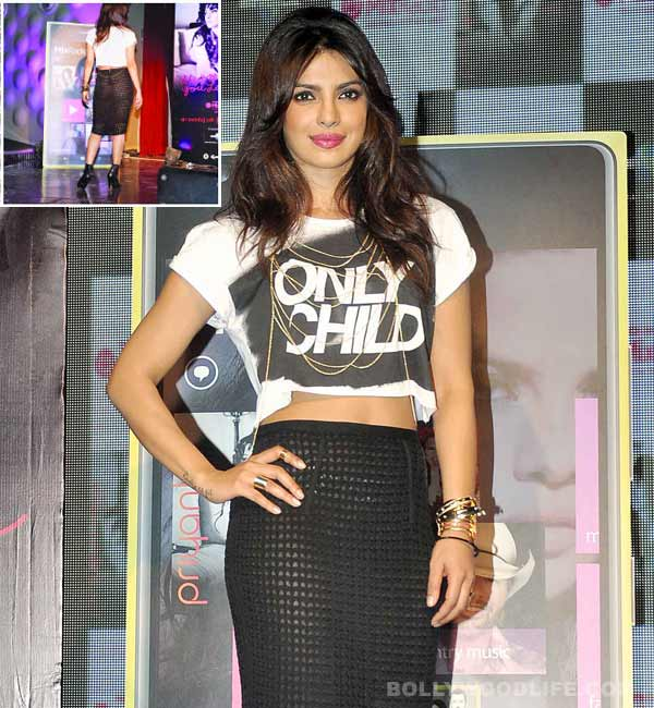 Priyanka Chopra's I Can't Make You Love Me song launch appearance - a wardrobe malfunction or a bold style statement?