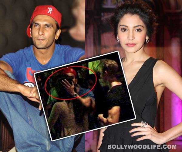 Ranveer Singh caught kissing Anushka