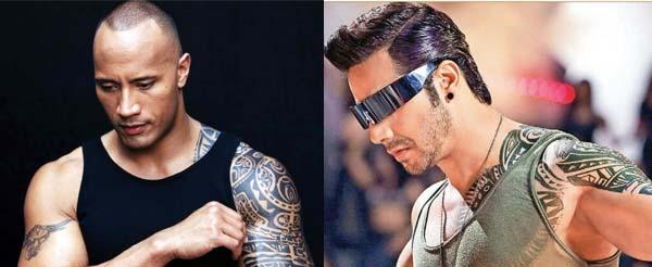 Is Varun Dhawan copying Dwayne Johnson aka Rock?